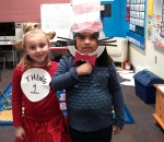 Brylee Thing 1 and Emily Cat in the Hat